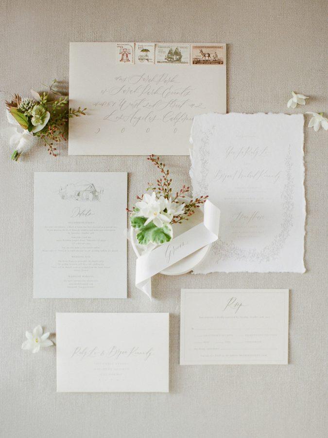Custom Crafted Calligraphy Wedding Invitation