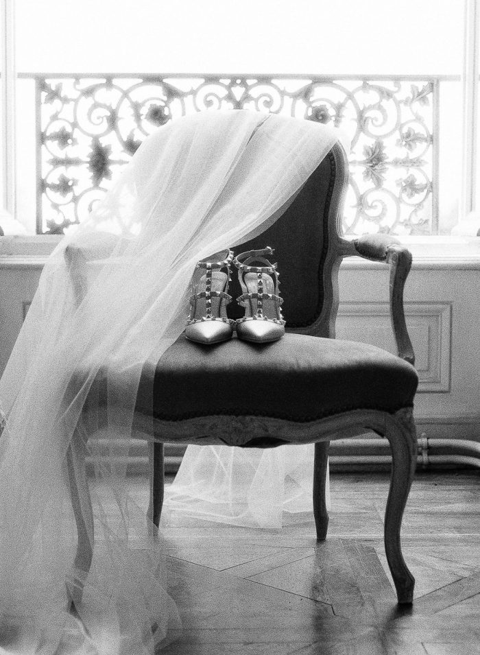 Wedding Veil and Valley on Chair