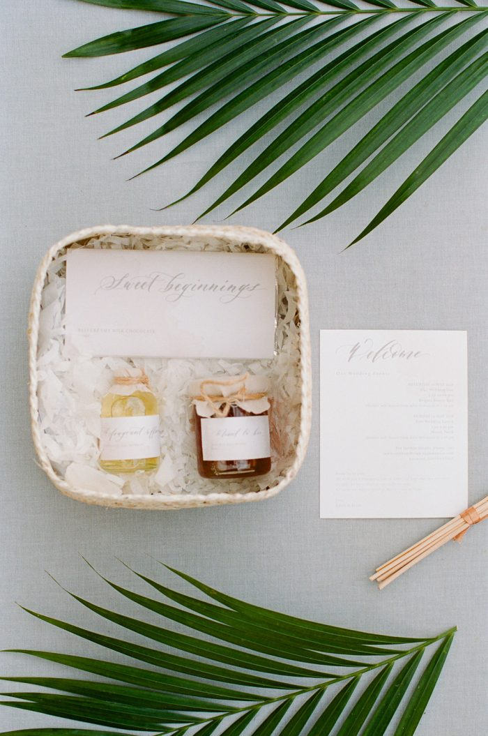 Bulgari Bali Destination Wedding welcome bag