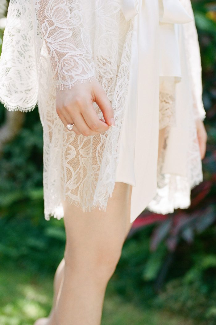 romantic bridal lace robe