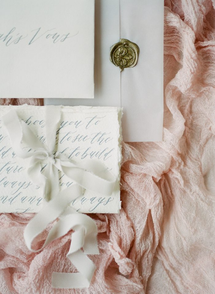 Calligraphy Wedding Details by Michaela McBride