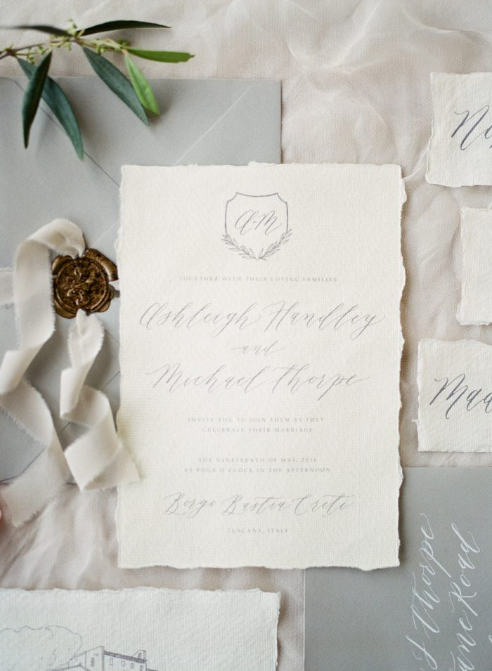 Calligraphy Wedding Invitation by Michaela McBride