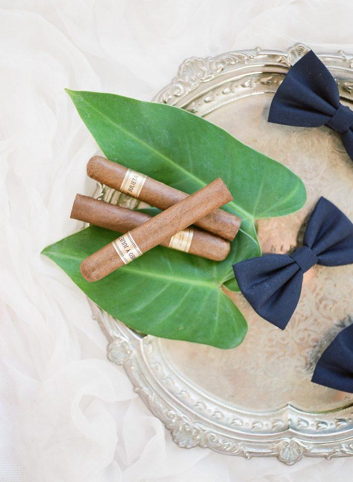 Aman Bali destination wedding cigars