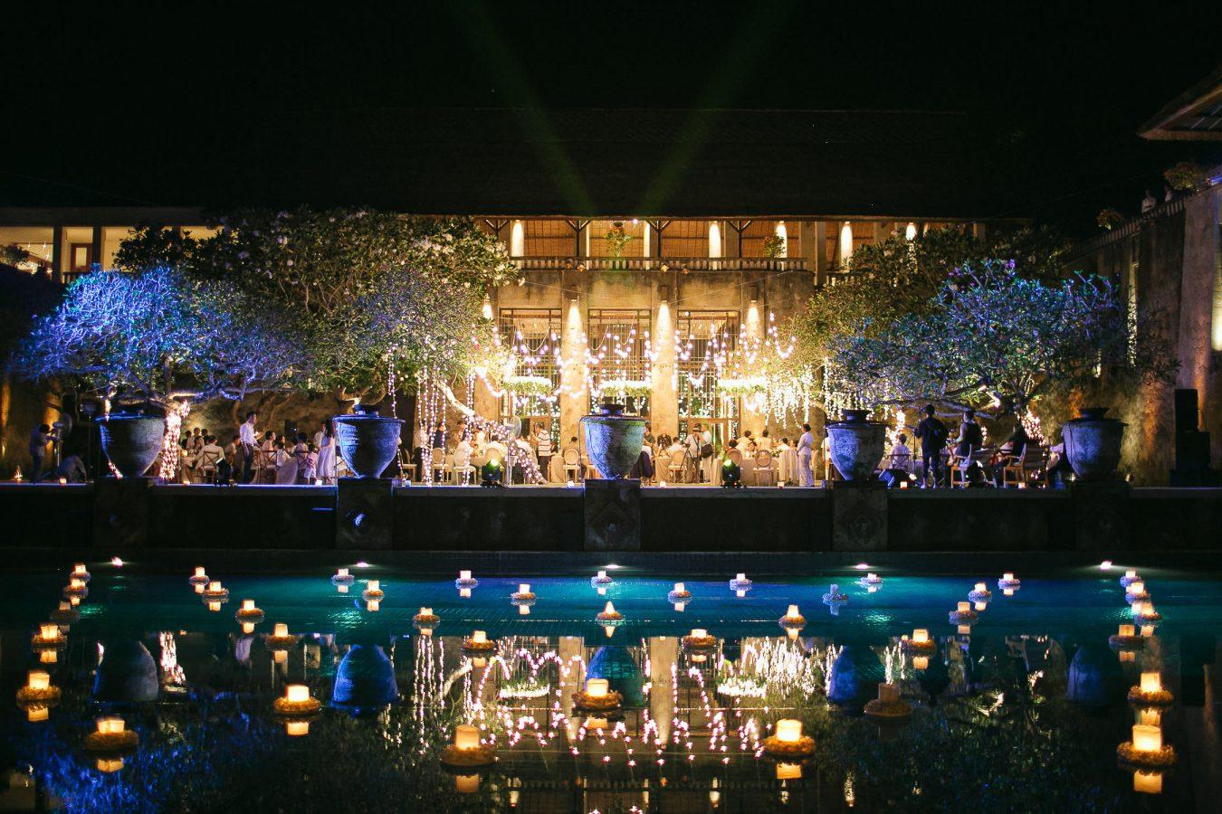 Aman Bali Destination Wedding Reception view