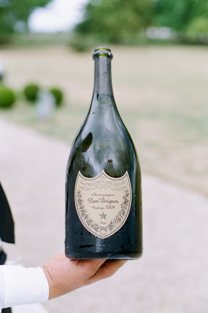Bottle of Dom Perigon Champagne