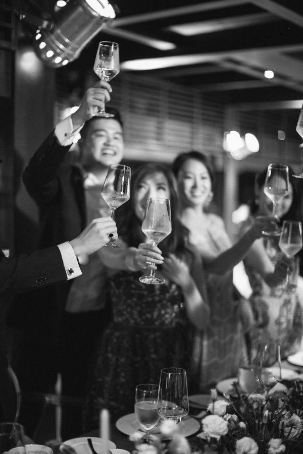 Bulgari Bali Destination Wedding Reception toast