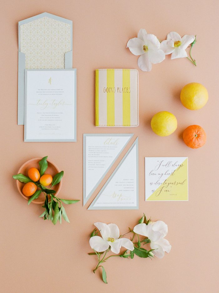 Modern Wedding invitation suite terracotta