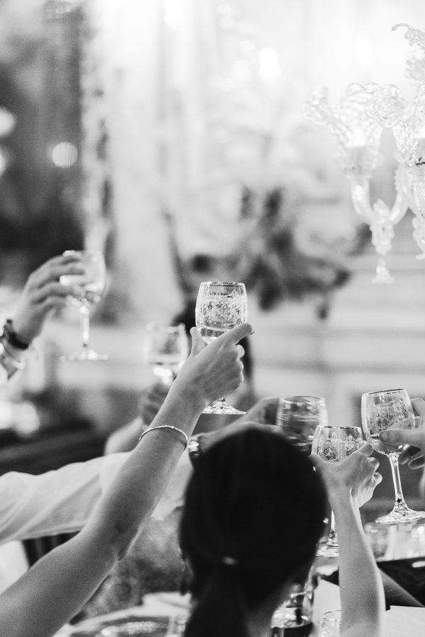 Toast at a wedding