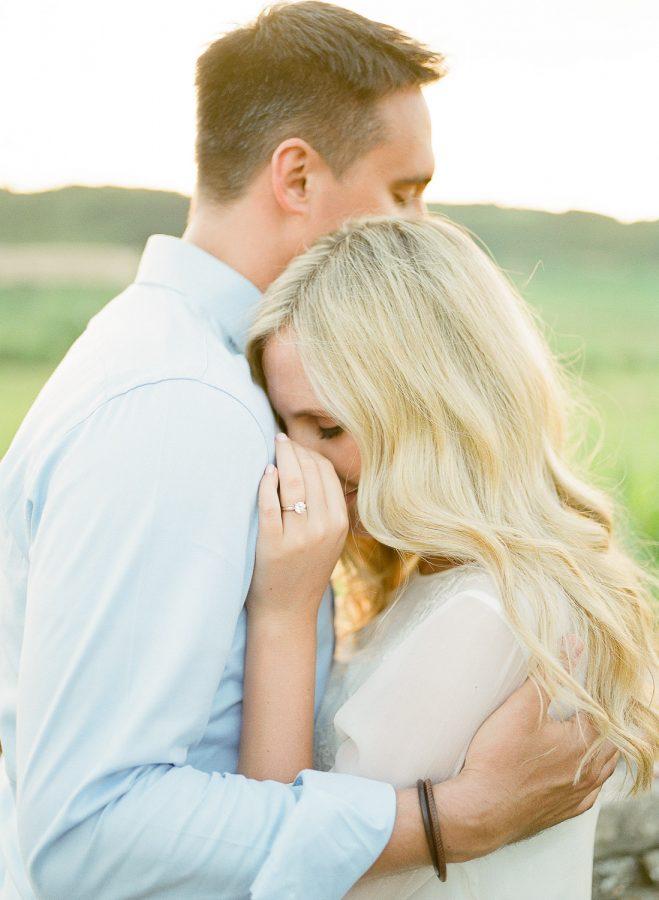 romantic couple engagement photos burgundy france