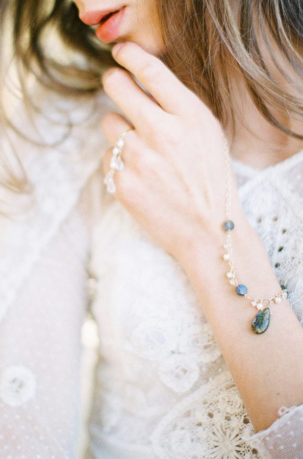 France Destination Wedding jewelry with pearl and godiva