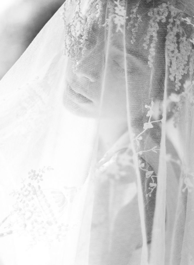 Romantic french destination wedding bridal veil