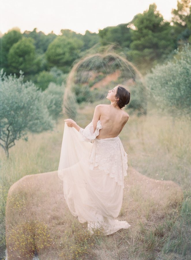 romantic double exposure wedding photography