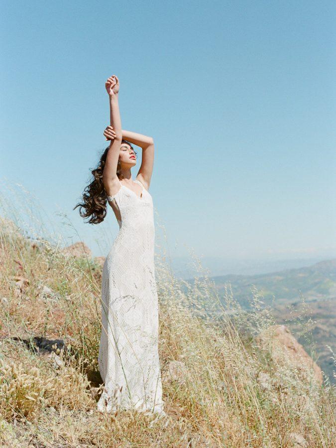 claire pettibone gowns at Malibu Rocky Oaks Wedding Venue