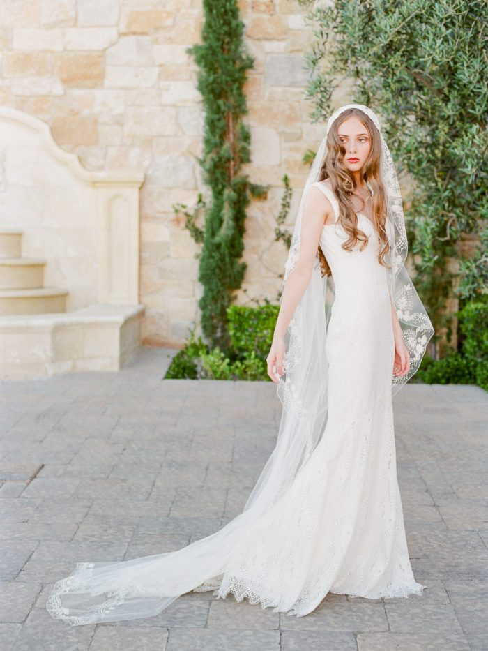 Romantic Bride at Malibu Rocky Oaks Wedding Venue