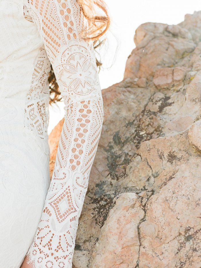 Modern Bridal dress at Malibu Rocky Oaks Wedding Venue