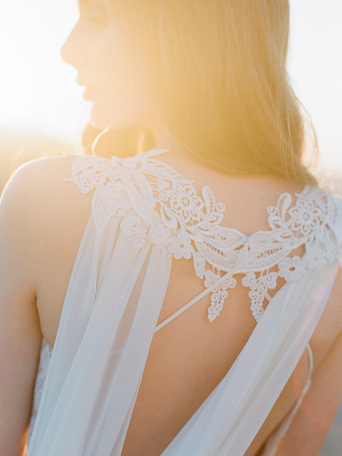 Sunset Bride at Malibu Rocky Oaks Wedding Venue