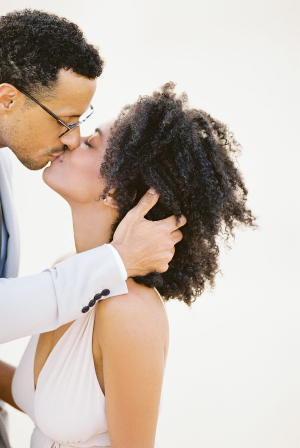 Mario and Stacia Love kiss